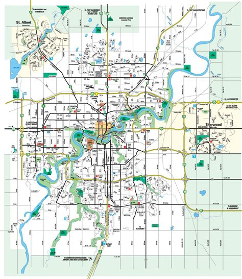Edmonton Address Search Large Edmonton Maps For Free And Print High Resolution And Detailed Maps