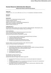Exle Of A Resume For A by Human Resource Administration Resume Sales Administration Lewesmr