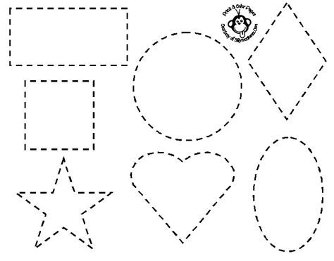 Coloring Pages With Shapes For Preschool | shapes coloring pages for preschoolers only coloring pages
