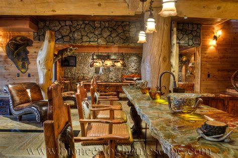 homes interiors bars and rooms log home and cabin interiors