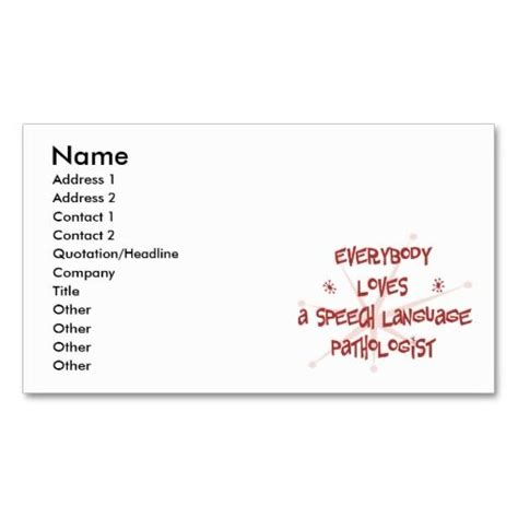Speech Therapist Business Card Templates by 158 Best Images About Speech Pathologist Business Cards On