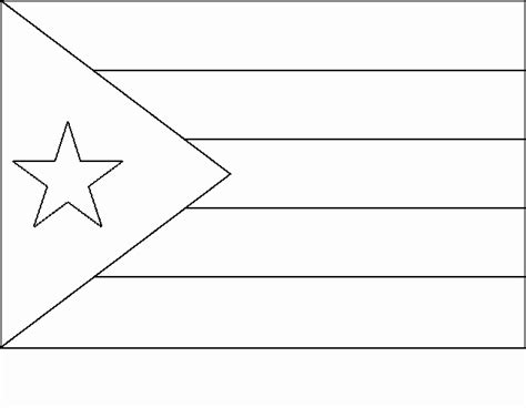 Cuba Flag Free Coloring Pages Cuban Flag Coloring Page