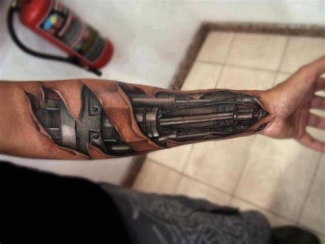 robot arm tattoo 6300 jpg 720 215 541 tatto pinterest