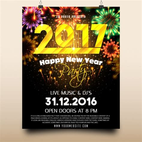 design poster new new year party poster design vector free download