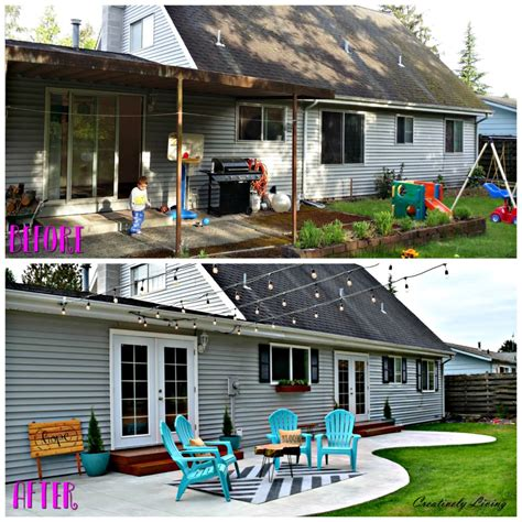 backyard makeover before and after backyard makeover the big reveal creatively living blog