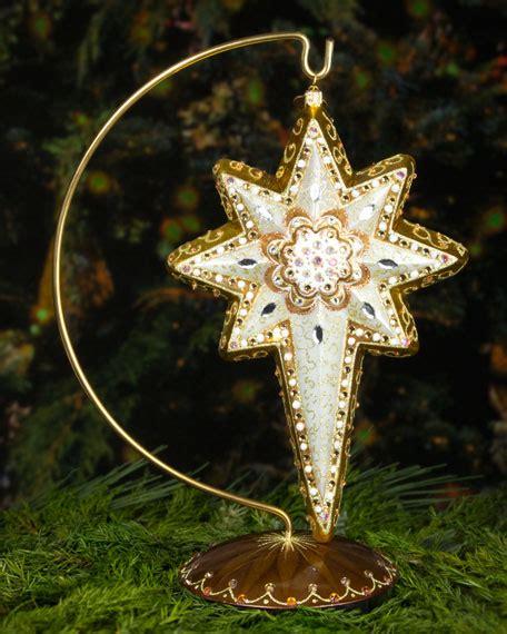 jay strongwater star of bethlehem christmas ornament