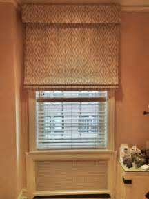 Roman Blinds As Window Accessories And Reddish Floral Single Coach