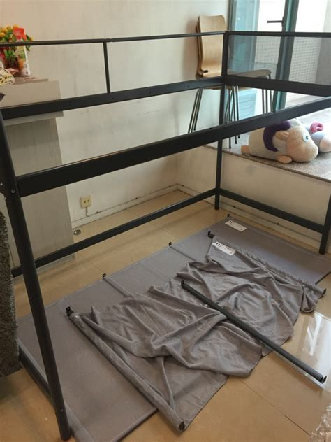 ikea tuffing bunk bed hack metre high loft bed with hammock from tuffing bunk bed