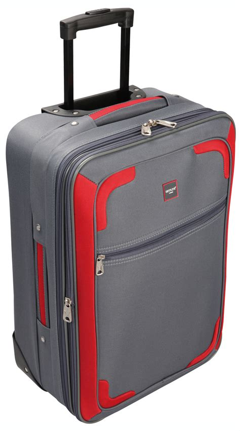 Small Cabin Suitcase Trolley by Skyflite Grey Small Cabin Size Travel Trolley