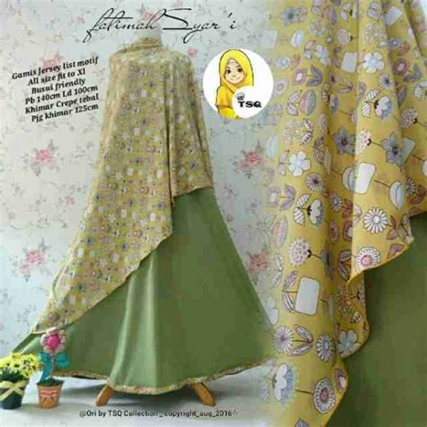 Busana Muslim Nansa Syari Hijau gamis modern fatimah syar i b061 model baju muslim baru