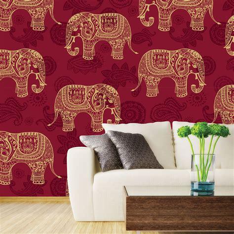 elephant wallpaper for walls indian elephants wallpaper wall decor