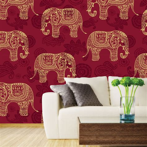 Indian Elephants Wallpaper   Wall Decor