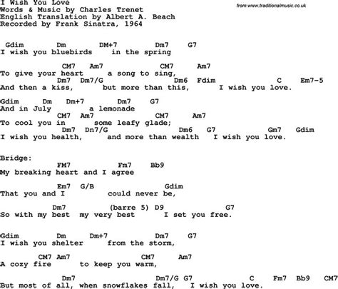 weather pattern lyrics song lyrics with guitar chords for i wish you love frank