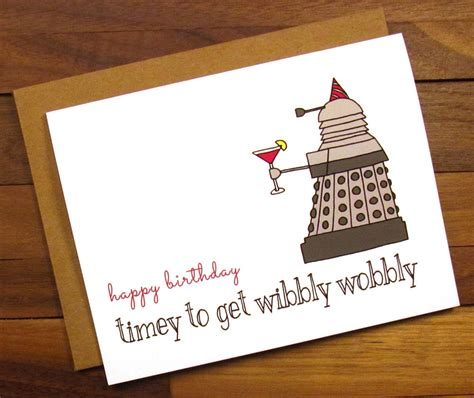 Doctor Who Birthday Cards Funny Birthday Card Dr Who Birthday Card Timey To Get
