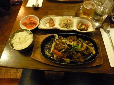korean bento box and king prawn tempura picture of kimchi dublin tripadvisor
