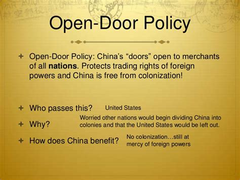 Open Door Policy China by China Powerpoint 28 1