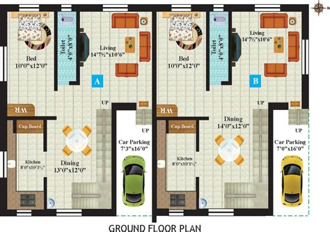 ground floor of a twin bungalow in leela greens talegaon twin home floor plans house plan 2017
