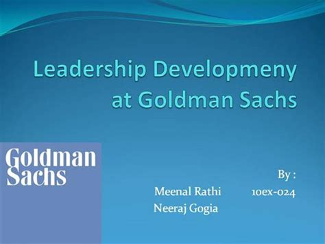 Goldman Sachs Business Card Template by Leadership Developmeny At Goldman Sachs Authorstream