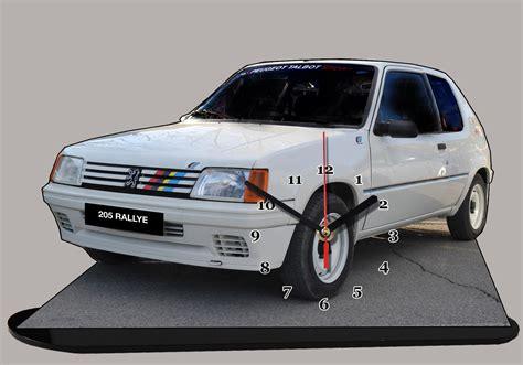 peugeot 205 rally peugeot 205 rallye blanche en miniature auto horloge