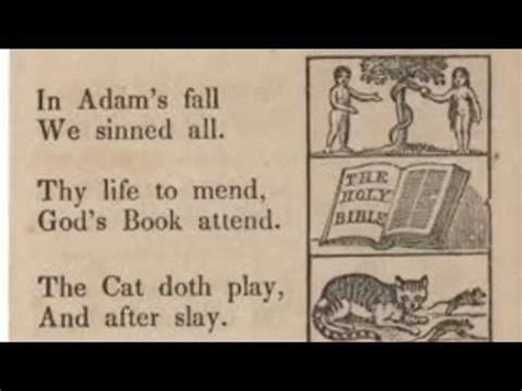 puritan alphabet from new england primer = poems taught