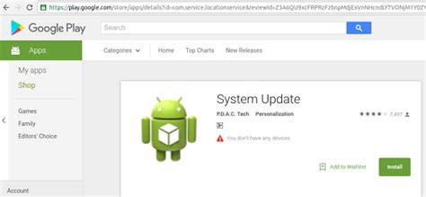 system update android hebt u ge 239 nstalleerde system update spyware op je android toestel
