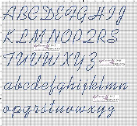punto croce lettere lettere alfabeto punto croce per bavaglini