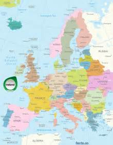 Ireland Map Europe by Ireland Map Blank Political Ireland Map With Cities