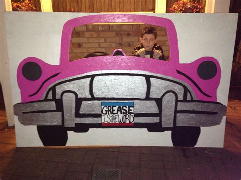 decoration ideas grease themed 50s car photo prop grease celebrate 50s