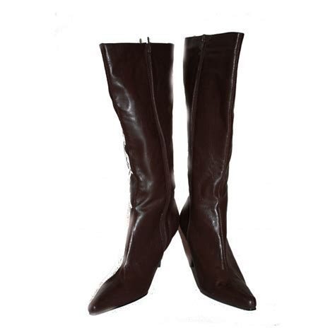 brown high heel boots leggsy brown high heel point boots by leggsy size