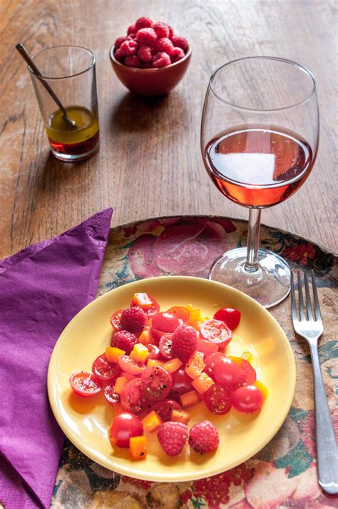 recipes with raspberries tomato salad with raspberries delicious from scratch