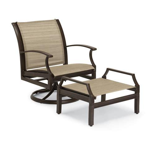 swivel rocking chair sling swivel rocking lounge chair from woodard