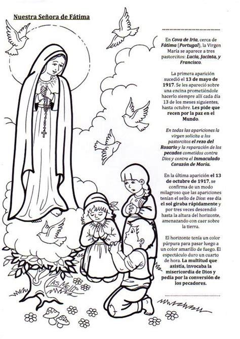 actividades para ninos de la virgen maria fatima para colorear 2 vida vida pinterest blog y