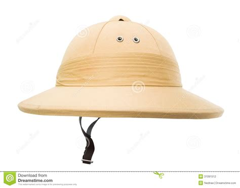 Brown Armchair Safari Hat Isolated On The White Stock Photography Image