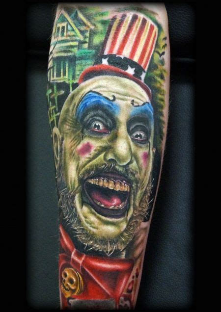captain spaulding tattoo 17 best images about captain spaulding tattoos on