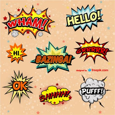 comic book layout vector comic book vector exclamations vector free download