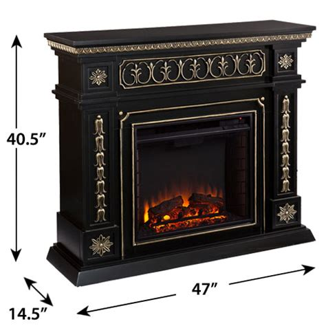 donovan electric fireplace mantel package in black fe9661