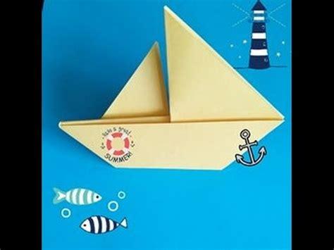 un barco de papel como hacer un barco de papel youtube
