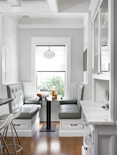 Banquette Breakfast Nook by 25 Space Savvy Banquettes With Built In Storage Underneath