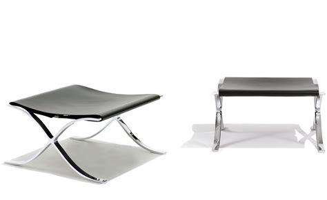 Mies Der Rohe Stool by Barcelona Cowhide Stool Hivemodern