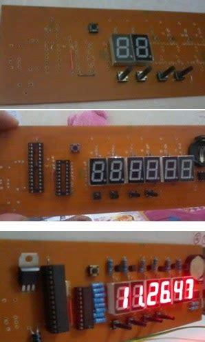 membuat jam digital besar membuat jam digital sendiri dengan 7 segmen dan kumpulan