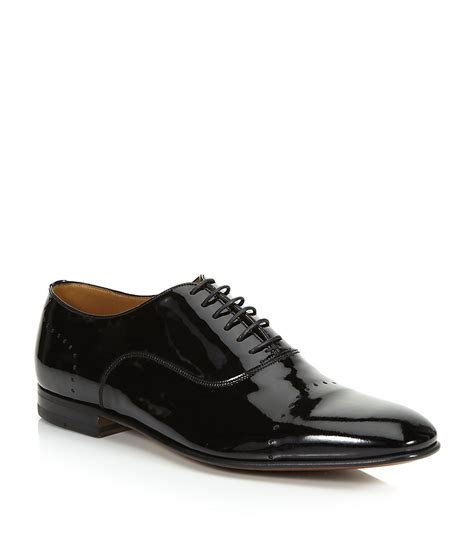 black patent oxford shoes bally licio patent oxford shoe in black for lyst
