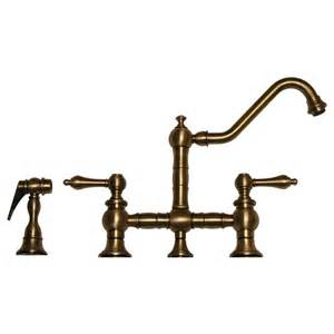 Antique Kitchen Faucets Whitehaus Collection Vintage Iii 2 Handle Standard Kitchen Faucet With Side Sprayer In Antique