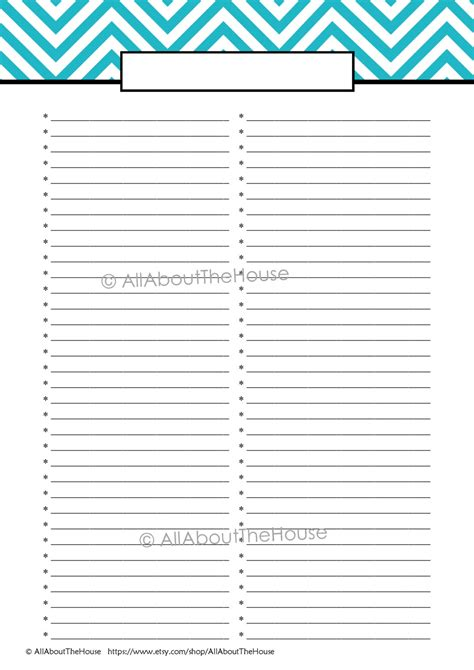 free printable card list templates 8 best images of to do list printable template free