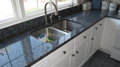 Blue Pearl Granite White Cabinets by This Kitchen Renovation Includes Jsi Cabinetry With Shaker