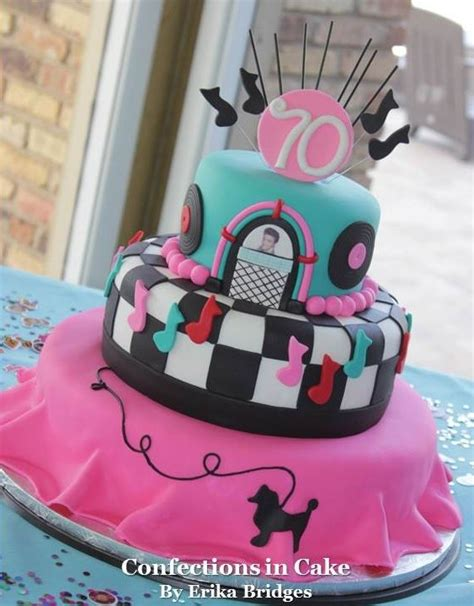 themed birthday cakes for adults 50 s themed poodle skirt cake adult party cakes
