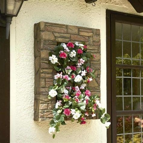 brundle gardener stone effect wall planter garden street