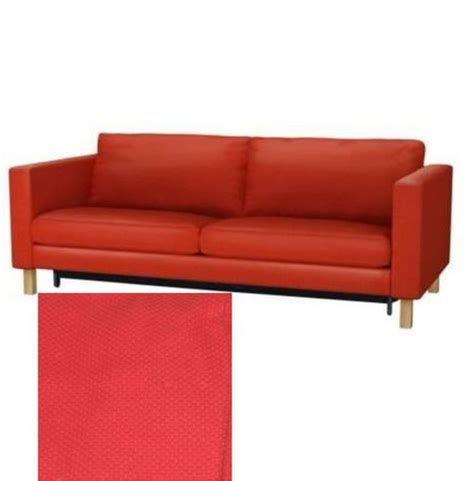 slipcovered sofa bed ikea karlstad sofa bed sofabed slipcover cover korndal red