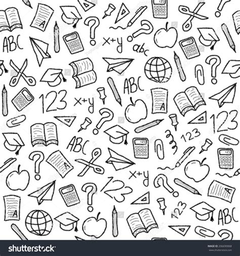 background wallpaper education icon royalty free seamless background with school object