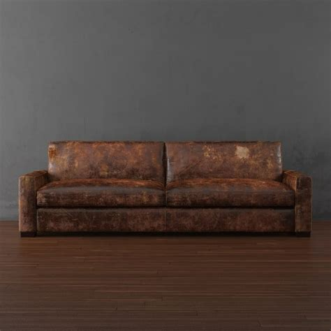 restoration hardware modena leather sofa maxwell leather sleeper sofa 3d max