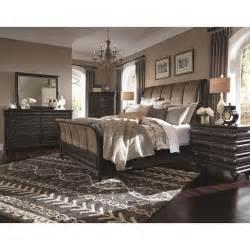 king bedroom sets image: hyland park vintage black  piece cal king bedroom set